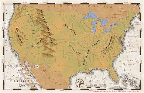 geographical map of the united states of america united states of america 1860 2010 josh jones