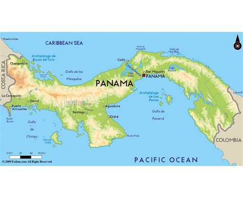 physical map of panama maps of panama detailed map of panama in