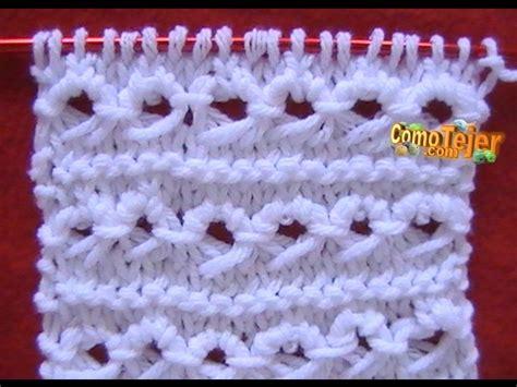 tejiendo a dos agujas como tejer punto peruano broomstick loop stitch 2 agujas