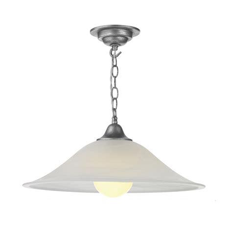 Dar Aur0132 Aura 1 Light Pendant Silver Complete With Silver Pendant Light