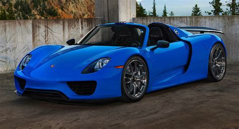 blue porsche spyder voodoo blue porsche 918 spyder brings the magic on custom