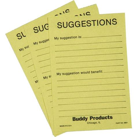 suggestion cards templates suggestion box cards 4 x 6 quot buddy 5621 nordisco