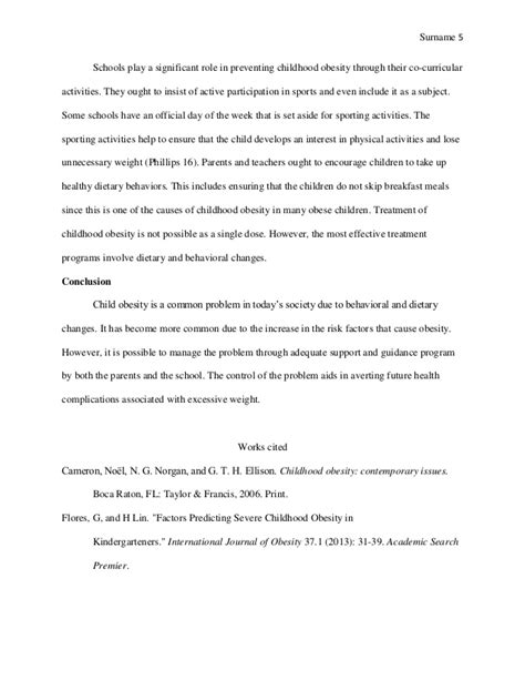 Childhood Obesity Essay Sle by Essay On Childhood Obesity Essay Sle