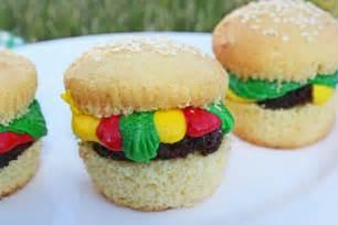 Cute hamburger cupcakes fun for kids