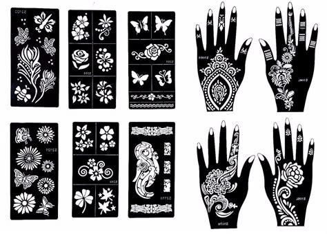 henna tattoo schablonen amazon henna stencil temporary