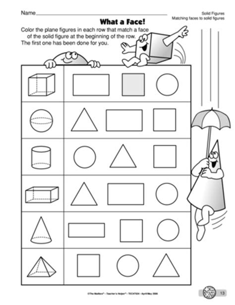 Solid Shapes Worksheets by All Worksheets 187 3d Solid Shapes Worksheets Printable
