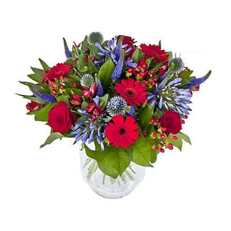 de laares bloemen es prijs boeket blauw rood via 123bloemenbestellen nl
