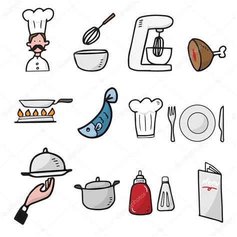 imagenes vectores cocina chef y cocina dibujos animados dibujar iconos archivo