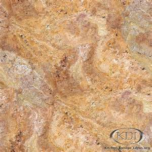 Kitchen Countertop Backsplash Ideas - yellow red granite kitchen countertop ideas