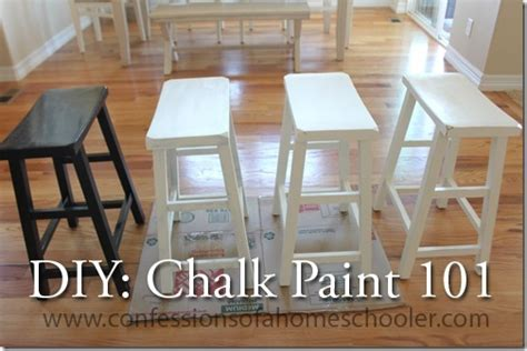 diy refinished bar stool paint base with black flat diy chalk paint 101 confessions of a homeschooler