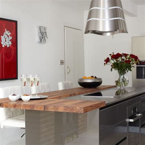 Kitchen Breakfast Bars Designs Breakfast Bar Be Inspired By This Ultramodern Kitchen Makeover Housetohome Co Uk