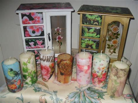 Decoupage Candles - decoupage candles decoupage candles and