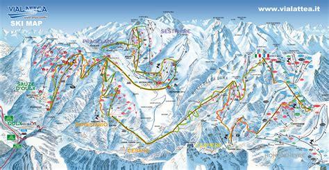 Sestrière Plan des pistes de ski Sestrière