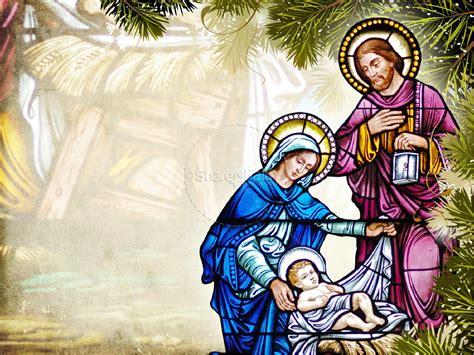 away in a manger church powerpoint template christmas