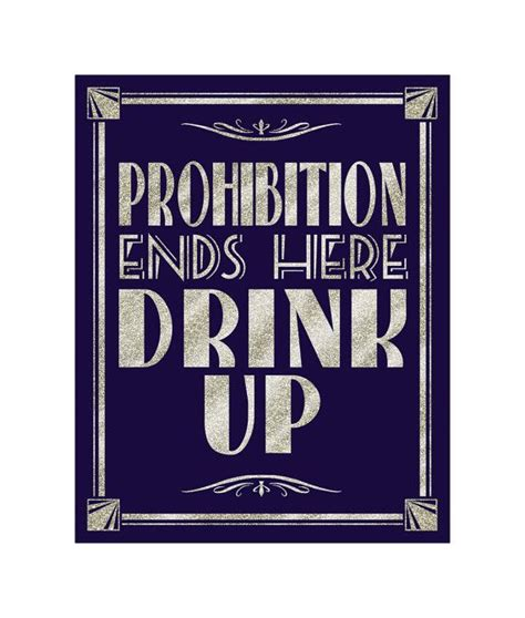 prohibition ends printable prohibition ends here drink up art deco great