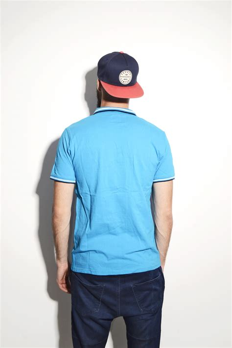 kappa blue polo shirt milk vintage s s