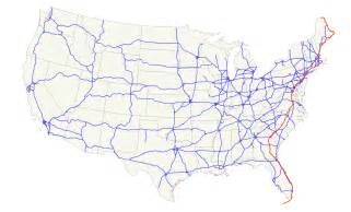 us numbered highways map u s route 1 wikiwand