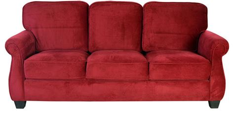 Maroon Sofas by Fabric Three Seater Sofa In Maroon Colour By