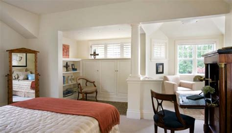 master bedroom with office area peaceful osterville retreat by nicholaeff architecture