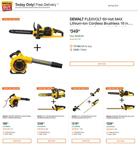dewalt flexvolt  max outdoor power tools deals