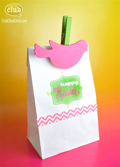 and easter paper bag printing ideas with free