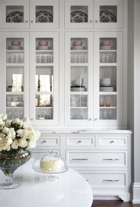 Sideboards. astounding white hutch with glass doors: white hutch with glass doors display
