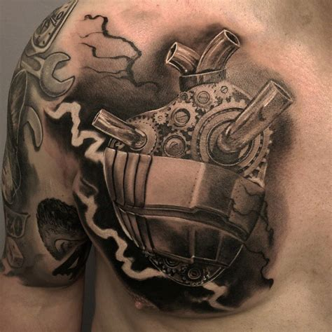 mechanical heart tattoo best tattoo design ideas
