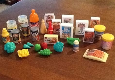 food accessories food accessories pantry grocery store lot of 30 for diorama play vintage