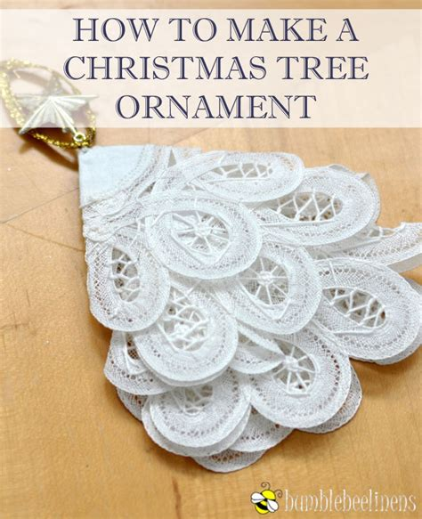 How Do You Make A Tree Out Of Paper - a tree ornament out of doilies