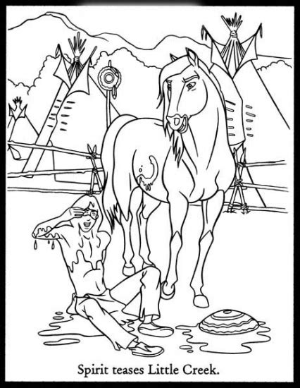 spirit stallion of the cimarron free coloring pages