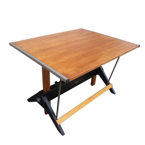 Midcentury Retro Style Modern Architectural Vintage Mayline Oak Drafting Table