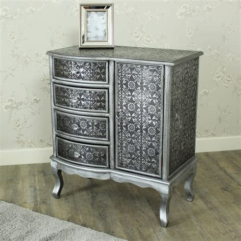 Silver Cabinet by Range Silver 4 Drawer 1 Door Cabinet Melody