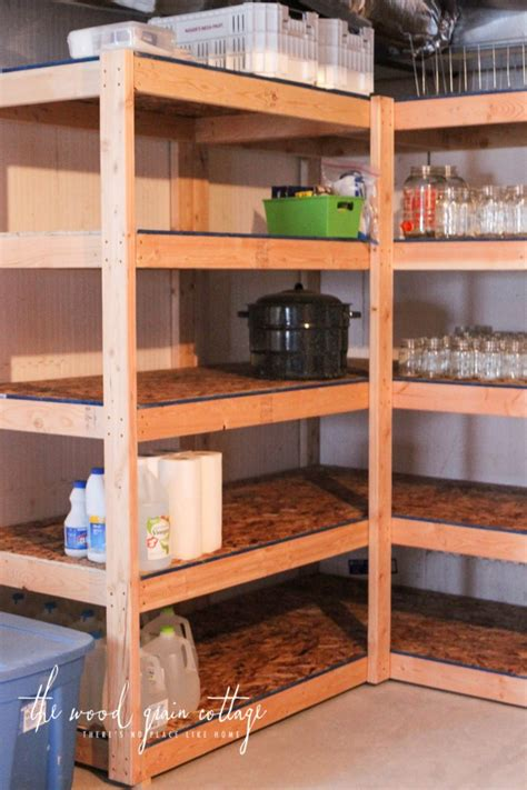 diy basement shelving the wood grain cottage