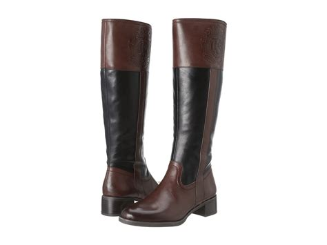 franco sarto s christie boot brown black