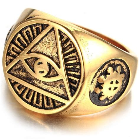 illuminati ring mendino s stainless steel ring illuminati the all