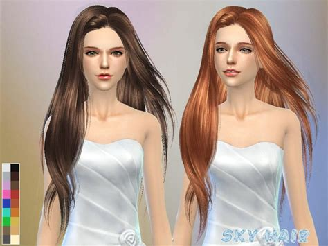 sims 4 long wavy hair without bangs 60 best sims 4 cc hair images on pinterest