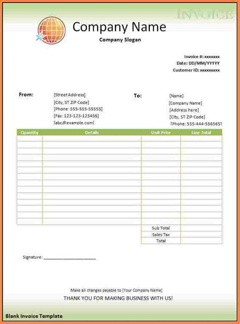 6 Blank Bill Format In Word Download Letter Bills Blank Invoice Template Word