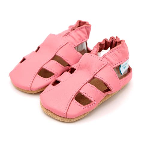 Pink Sandals pink sandals soft leather baby shoes dotty fish