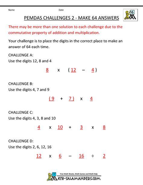 Pemdas Worksheet by Pemdas Rule Worksheets