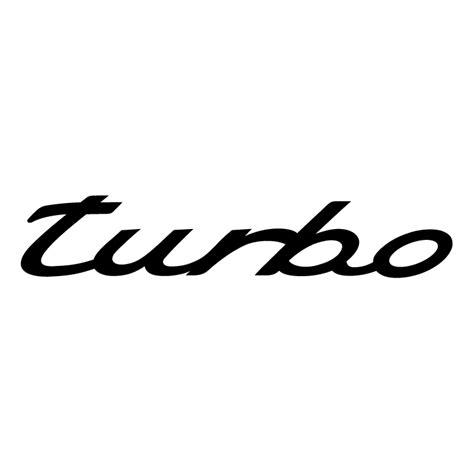 porsche turbo logo turbo free vector 4vector