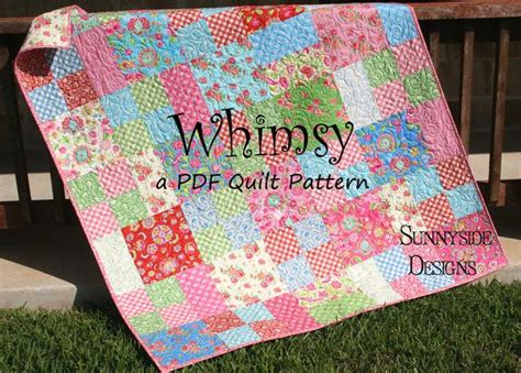 How To Make A Simple Quilt For Beginners by Layer Cake Quilt Pattern Whimsy Moda Baby Quilt And