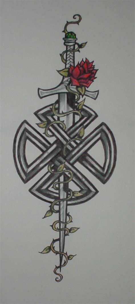 celtic sword tattoo celtic knot with sword by shadowkeeper1327 on deviantart