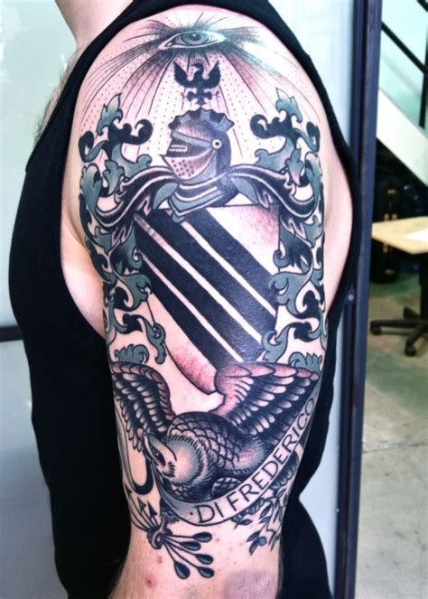 family crest tattoo tattoos by virginia elwood