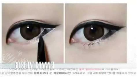 tutorial eyeliner untuk mata lebar tutorial memakai make up natural ala korea saubhaya makeup
