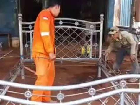 Ranjang Besi Di Cirebon membuat ranjang besi bengkel las h narsim desa cantigi