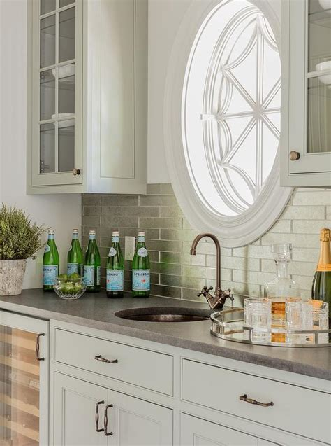 light gray wet bar cabinets  stainless steel