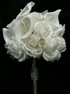 silk wedding bouquet silk bridal bouquet ebay
