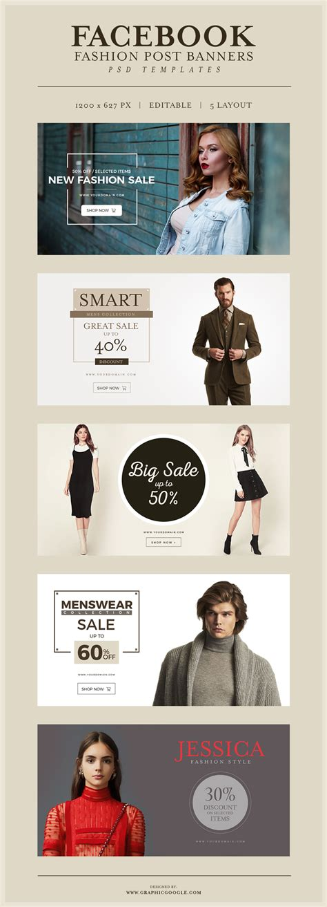 facebook banner themes facebook fashion post banners free psd templates navy themes