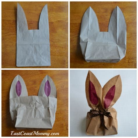 easter paper bag pattern 40 too easy diy easter bunny crafts for kids to make