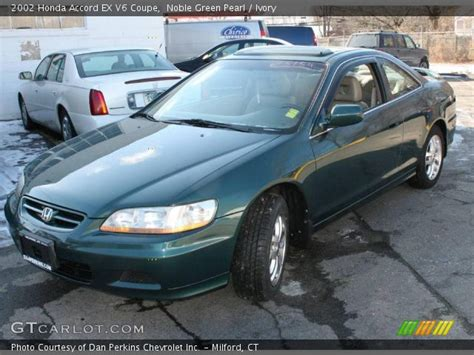 2002 green honda accord noble green pearl 2002 honda accord ex v6 coupe ivory
